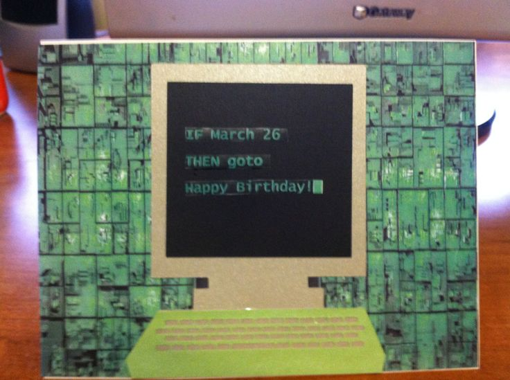 Birthday Card For Programmer Happy Birthday With