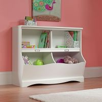 Kids Cubby Storage Box Bookcase Bin Toy Organizer Table