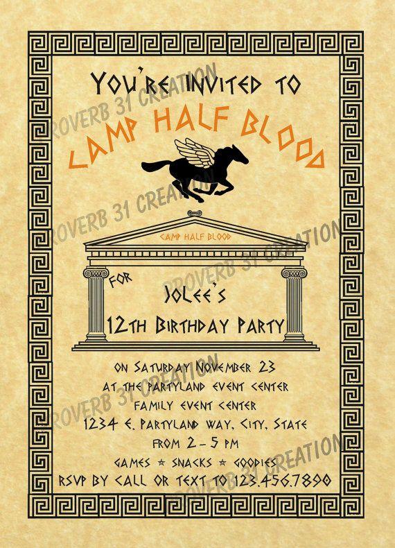 25 Best Ideas About Percy Jackson Birthday On Pinterest