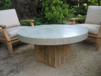 This concrete block coffee table would be perfect for an ...