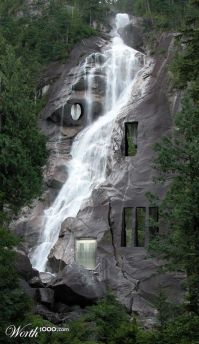 Waterfall house | Unusual-Homes | Pinterest | Awesome, A ...