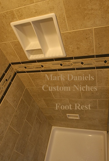 awesome A standup shower with a foot rest  Must have