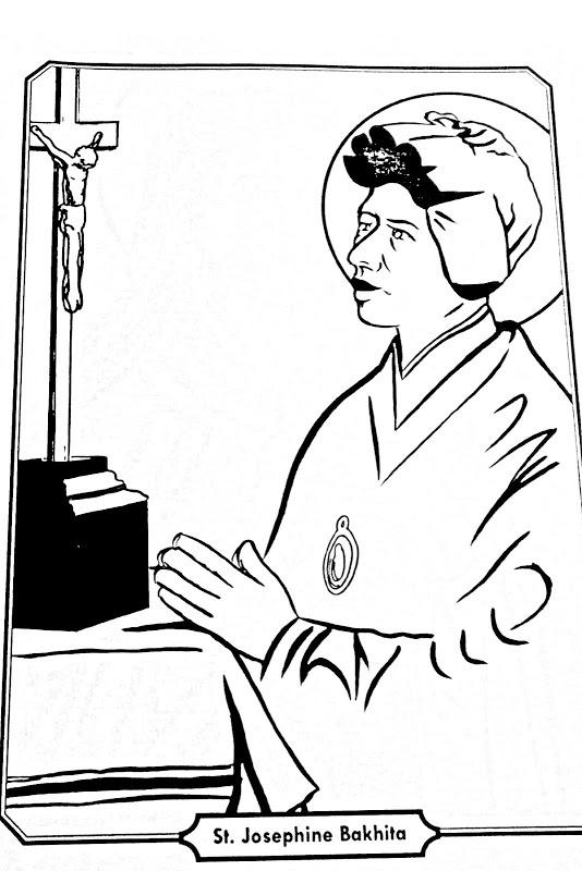 Saint Josephine Bakhita Catholic coloring page Feast Day