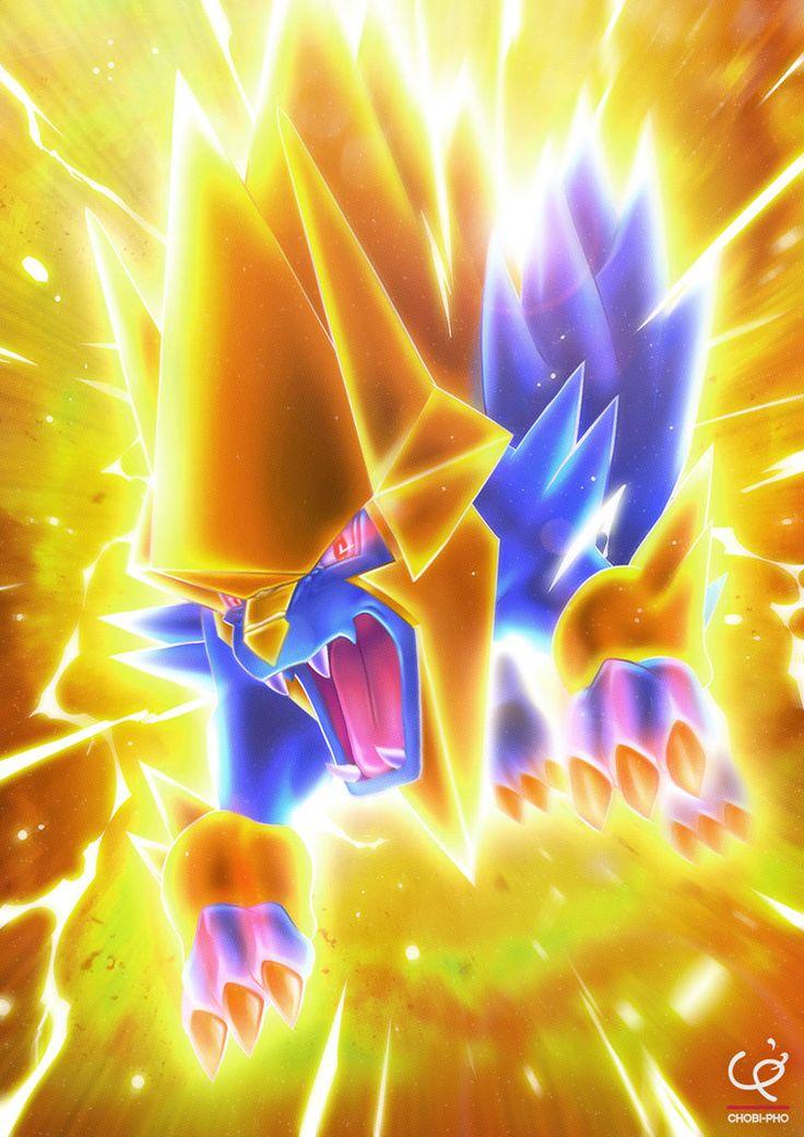 Cute Pokemon Iphone 5 Wallpaper The Blue Thunderbolt Mega Manectric By Chobi Pho On