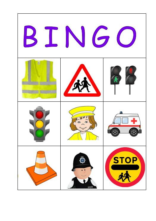 Road Safety Bingo email blagdonrainbowshotmailcom for