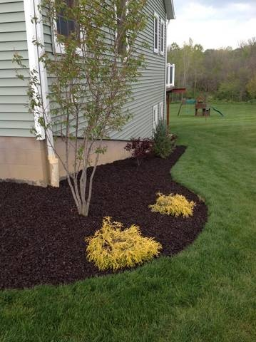 landscape rubber mulch in brown
