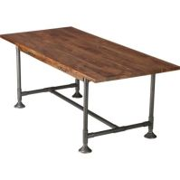 Taking a cue from this CB2 dining table, plumbing pipes ...