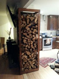 1000+ ideas about Indoor Firewood Rack on Pinterest