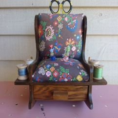 Grandma Rocking Chair Low Leg Recliner Chairs Vintage Pin Cushion. Fabric | The Nest Pinterest My Mom, Cushions And Mom