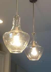 seeded glass pendant light