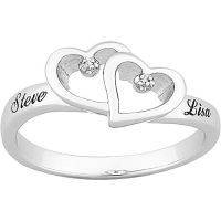 Personalized Platinum-Plated Sterling Silver & Diamond ...