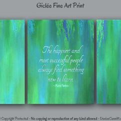 Living Room Color Palette Ideas Rooms Pinterest Teal Blue & Green Office Wall Art, Motivational Decor ...