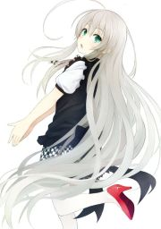 anime girl with silver hair home