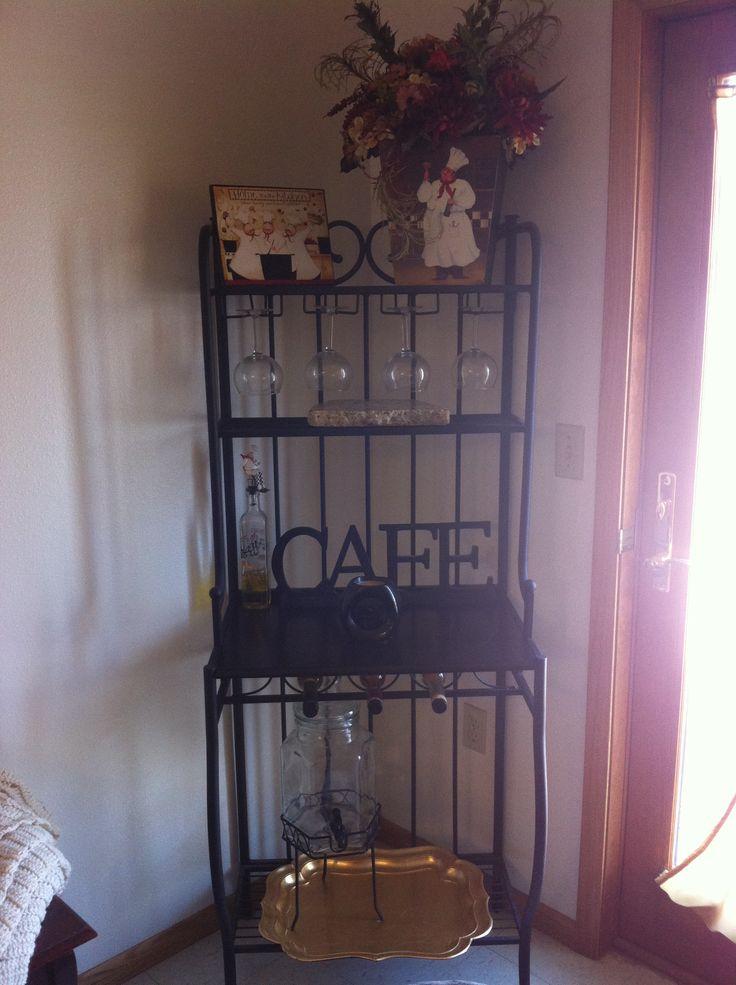 Bakers rack decor kitchen decor  Decor ideas