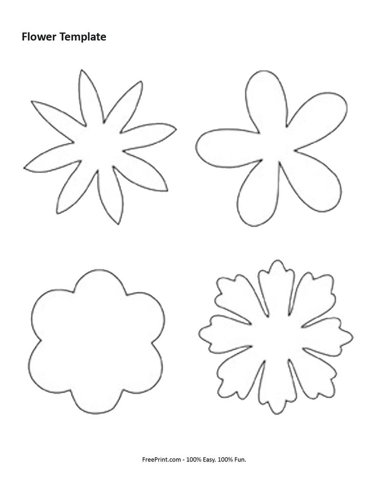 131 best images about DIY Flower Templates on Pinterest