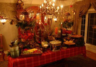 Buffet/buffet Decorating Ideas For Christmas