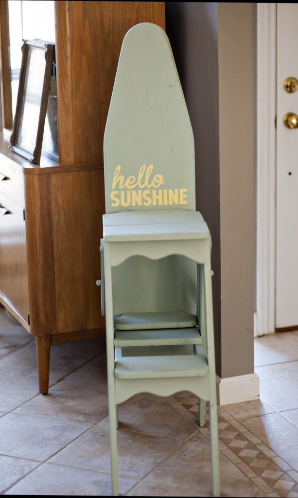 chair step stool ironing board cane seat repair vintage wood board/chair/stool | thrifting thursdays pinterest vintage, ...