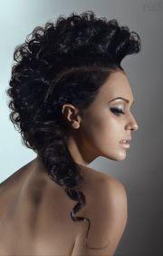 1000 curly hair mohawk