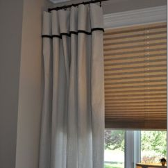 Curtains For Living Room Ideas Cabinet Dropcloth With Black Trim! | The Home ...