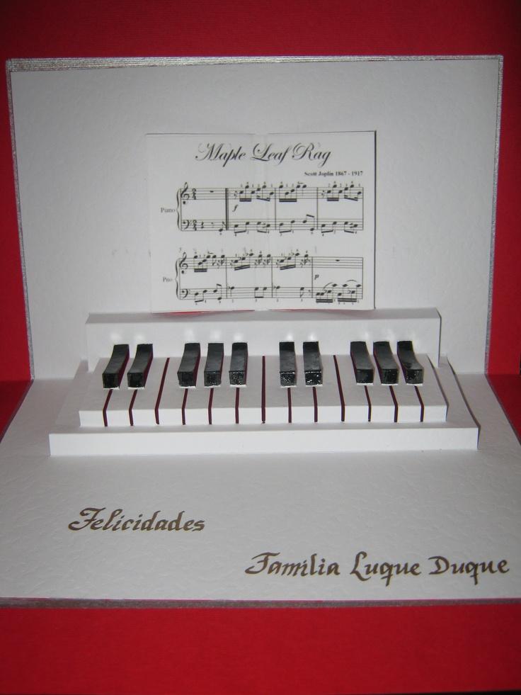 KIRIGAMI PIANO Seni Kirigami Pinterest Piano And