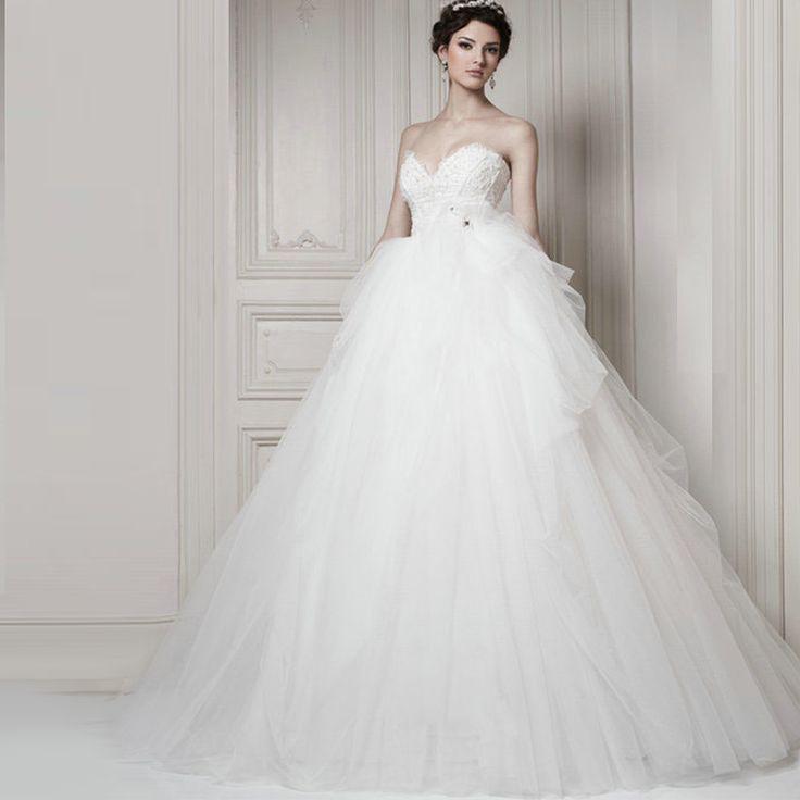 Aliexpress.com : Buy Tube top flower wedding dress white