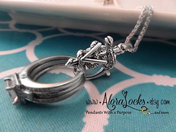 Veterinary Caduceus Wedding Band / Engagement Ring & Charm