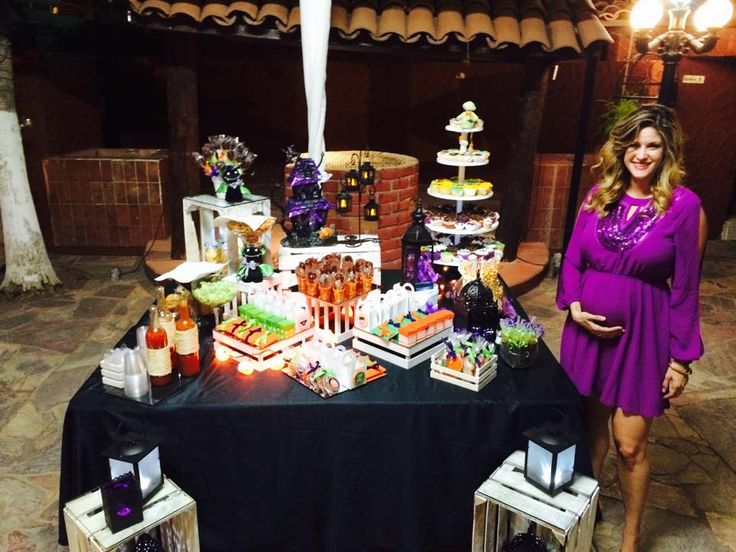 Mesa de Snack de Baby shower Halloween  Mis Eventos