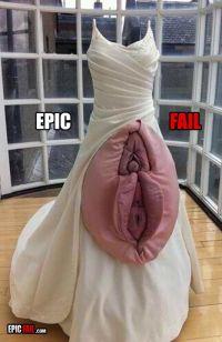 epic-wedding-dress-fail-vagina | Wedding Fails | Pinterest ...