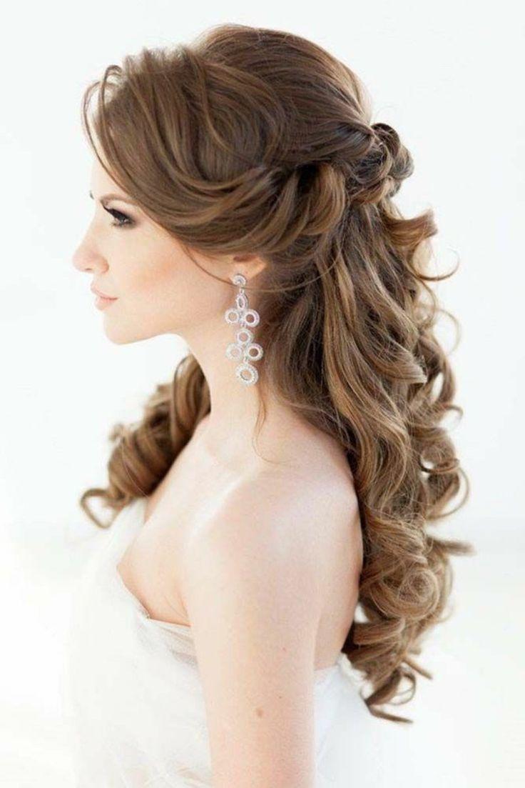 Die 25 besten Ideen zu Frisur Halb Offen auf Pinterest  Hochzeitsfrisuren offen Frisuren