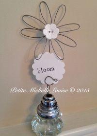 Vintage Door Knob Inspiration Holder - Photo Holder- Table ...