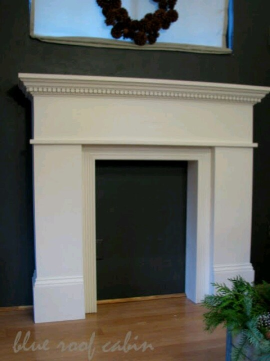 Instructions For Building A Faux Fireplace Mantel Http