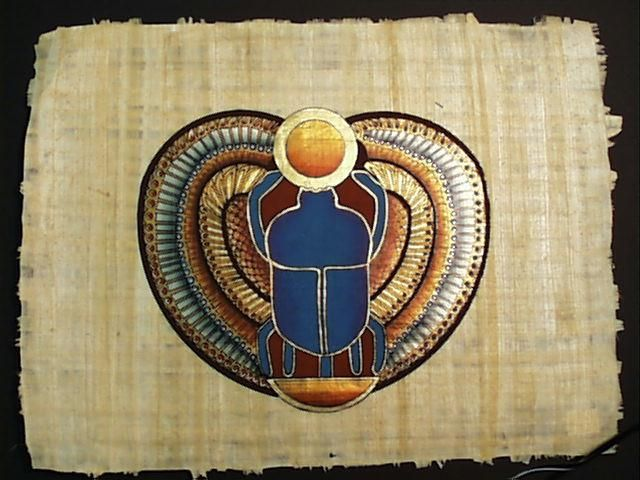 Ancient Scarab Beetle Egyptian Hieroglyphic