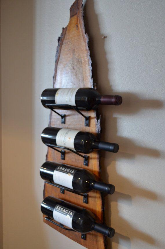 Natural Wood With Live Edge Wine Rack Beautiful