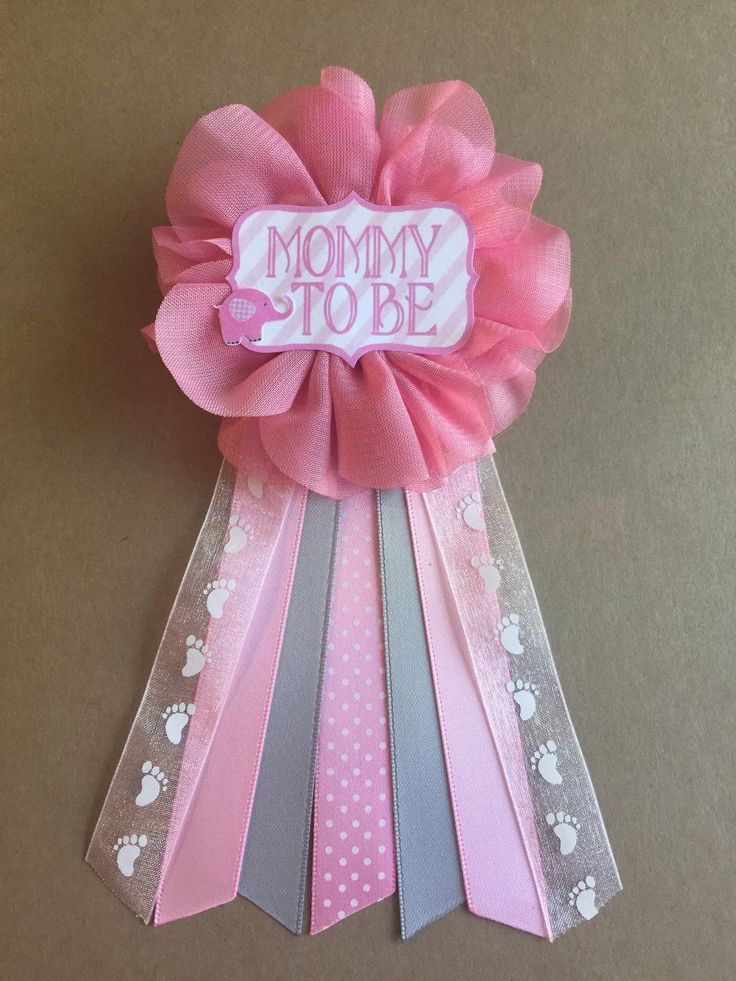 baby shower corsage for girl