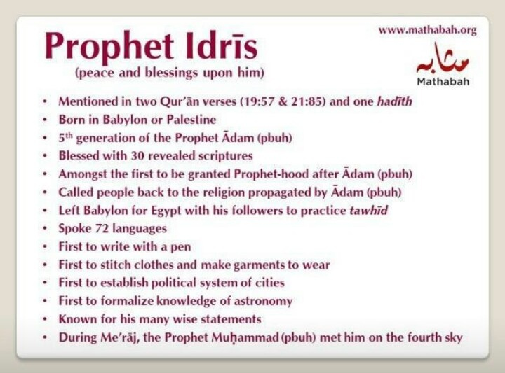 108 best images about Islamic Studies -- Prophets of Allah ...