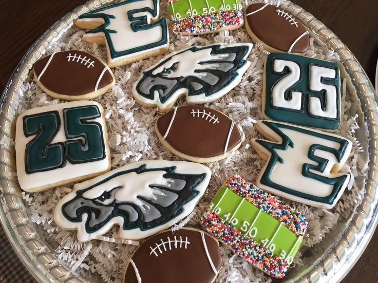 Philadelphia Eagles Cookies Football Party Pinterest