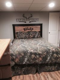 Hunting theme boys bedroom camouflage