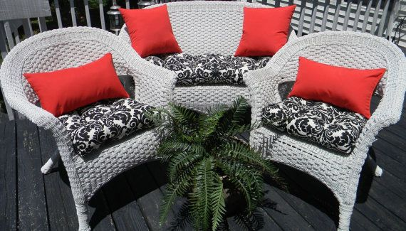 73 Best Images About Wicker Chair Cushions On Pinterest