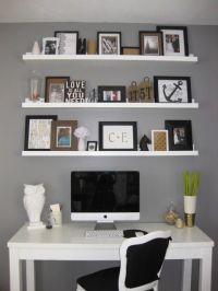 Love the shelves to the ceiling above a desk, diy shelves ...