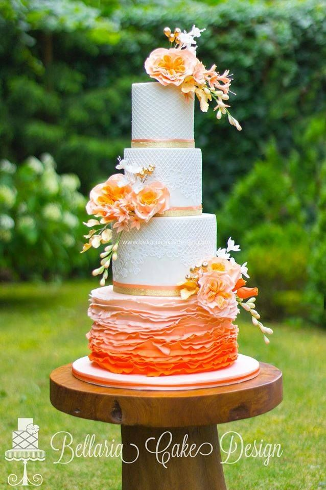 17 Best Images About Cakes Rufles And Ombre On Pinterest