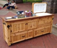Rustic Cooler Cabinet, Outdoor Bar, Bar Cabinet, Sideboard ...