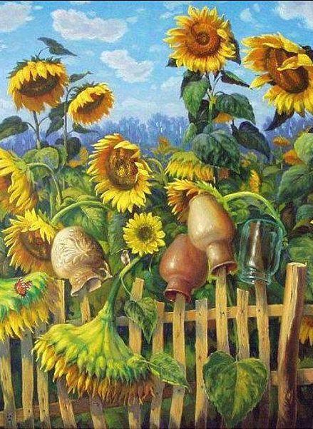 sunflower drawings