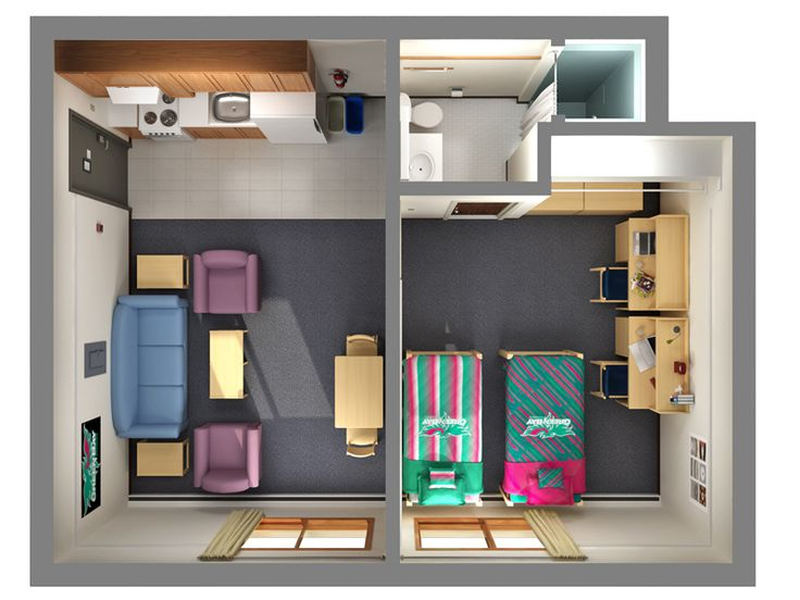 Home Design, Apt Floor Plans For Two Student Shared Three