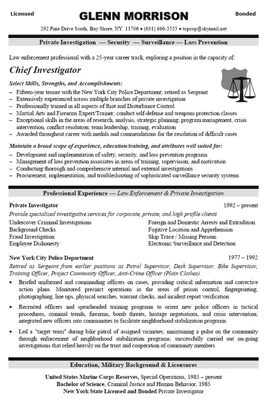 Security Officer Resume Example  Resume and Resume examples