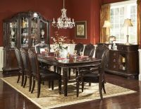 Dining Rooms, Dazzling Dark Red Wall Paint Dining Room