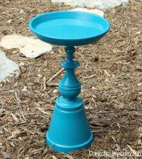 Make Your Own Birdbath | Lamp bases, Bird baths and Diy ...