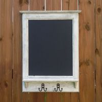 RUSTIC CHALKBOARD Coat Rack with shelf, Magnetic, Entry