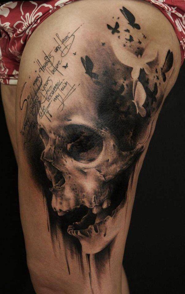 ideas skull thigh