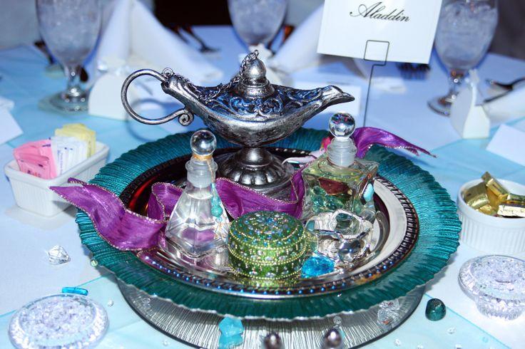 Aladdin Centerpiece Disney Princess Party Pinterest