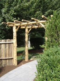 Natural Cedar Pergola | Rustic Pergolas | Pinterest ...